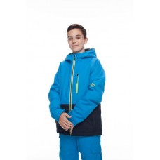 686 Boys' Jinx Insulated Jacket BLUEBIRD COLORBLOCK (M)