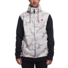 686 Men's Icon Bonded Fleece Zip Hoody White Camo (L)
