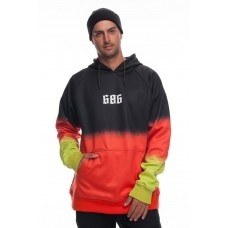 686 Men's Knockout Bonded Fleece Pullover BLACK DIP DYE (S M L XL)