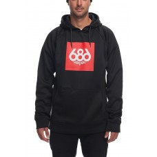 686 Men's Knockout Bonded Fleece Pullover BLACK (S L)
