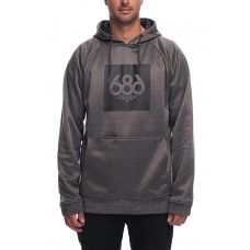 686 Men's Knockout Bonded Fleece Pullover GREY MELANGE (S M L XL)