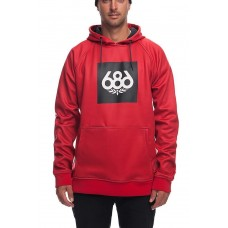 686 Men's Knockout Bonded Fleece Pullover RED (M L)