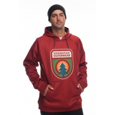 686 Men's Knockout Bonded Fleece Pullover RUSTY RED (S)
