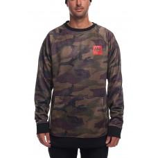 686 Men's Bonded Fleece Crewneck Sweatshirt DARK CAMO (M)