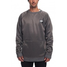 686 Men's Bonded Fleece Crewneck Sweatshirt GREY MELANGE (M L)