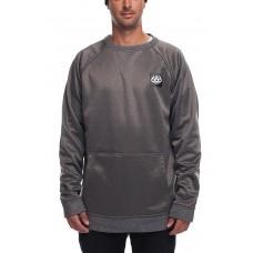 686 Men's Bonded Fleece Crewneck Sweatshirt GREY MELANGE (M L XL)