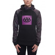 686 Women's Cora Bonded Fleece Pullover Hoody Ghost Rose (S)