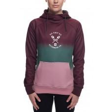 686 Women's Cora Bonded Fleece Pullover Hoody  WINE DIP DYE (XS S)