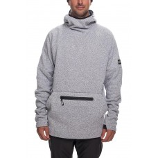 686 Men's GLCR Knit Tech Fleece Hoody WHITE MELANGE (S L)