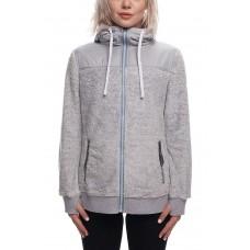 686 Women's Flo Polar Zip Fleece Hoody LT GREY MELANGE (S M)