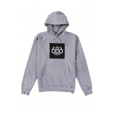 686 Men's Knockout Pullover Hoody Heather Grey (S M L)