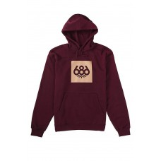 686 Men's Knockout Pullover Hoody Maroon (L)
