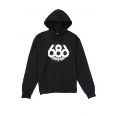 686 Men's Wreath Pullover Hoody Black (L)