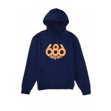 686 Men's Wreath Pullover Hoody Navy (L)
