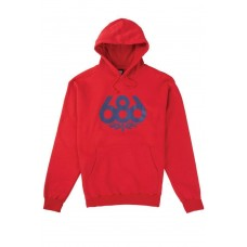 686 Men's Wreath Pullover Hoody Red (XL)