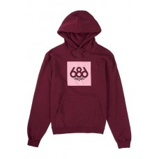 686 Women's Knockout Pullover Hoody Maroon (XS S M L XL)