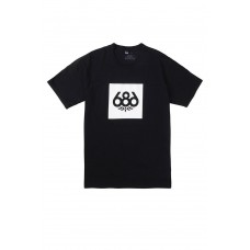 686 Men's Knockout S/S Black T-krekls (L)