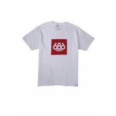 686 Men's Knockout S/S White T-krekls (S M)