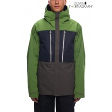 686 Men's GLCR Ether Down Thermagraph® Jacket CAMP GREEN COLORBLOCK (L)
