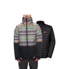686 Men's SMARTY® 3-in-1 Form Jacket STRIPE COLORBLOCK (L)
