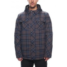 686 Men's Woodland Insulated Jacket CHARCOAL YARN DYE PLAID (M L)