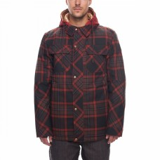 686 Men's Woodland Insulated Jacket RUSTY RED YARN DYE PLAID (L)