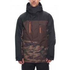 686 Men's Geo Insulated Jacket  DARK CAMO COLORBLOCK (S)