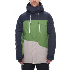686 Men's Geo Insulated Jacket  NAVY COLORBLOCK (M)