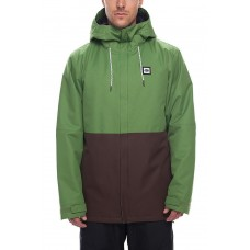 686 Men's Foundation Insulated Jacket  CAMP GREEN COLORBLOCK (L)