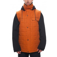 686 Men's Bedwin Snow Insulated Jacket COPPER COLORBLOCK (S M)
