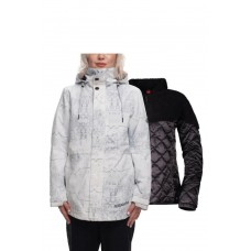 686 Women's SMARTY® 3-in-1 Siren Jacket WHITE MARBLE (S)