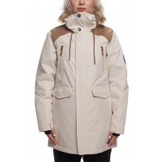 686 Women's Ceremony Insulated Jacket  BONE HERRINBONE (XS S)