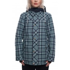 686 Women's Meadow Insulated Jacket SEAGLASS PLAID (M)