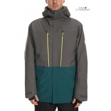 686 Men's GLCR Ether Down Thermagraph® Jacket CHARCOAL HEATHER COLORBLOCK (M)
