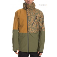 686 Men's GLCR Hydra Thermagraph® Jacket GOLDEN BROWN COLORBLOCK (M)