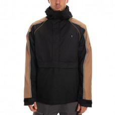686 Men's Catchit Anorak Track Shell Jacket BLACK (M)
