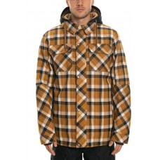 686 Men's Woodland Insulated Jacket GOLDEN BROWN PLAID (M)