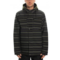 686 Men's Woodland Insulated Jacket SURPLUS GREEN STRIPE (M)