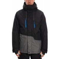 686 Men's Geo Insulated Jacket BLACK COLORBLOCK (M)