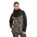 686 Women's Athena Insulated Jacket BLACK SPECKLE COLORBLOCK (S)