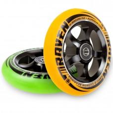 Scooter Wheel Raven Pro Orange/Green 110mm