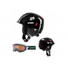 UVEX Junior airwing 2 Set  Black Pacman + brilles (S)