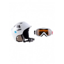 UVEX Junior airwing 2 Set  White Pacman + brilles (S)
