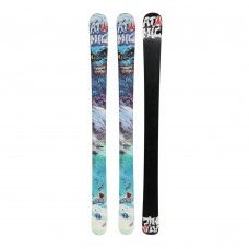 Atomic Spike + stiprinājumi (110cm 120cm) freestyle slēpes